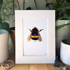 Cracked Gold Leaf Bumblebee Print