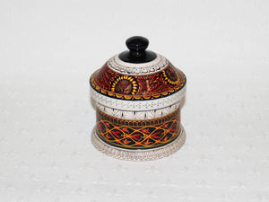 Hand-etched decorative lacquered wooden pot Serendip Small - £24