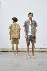 Path To Paisley - 2 Piece Short Sleeve Shirt & Shorts Path To Paisley