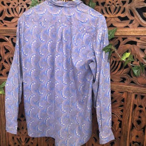 Men's Paisley Vintage Long Sleeved Shirt