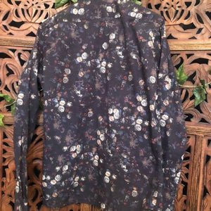 Men's Vintage Floral Print Shirt - Medium Planetary People