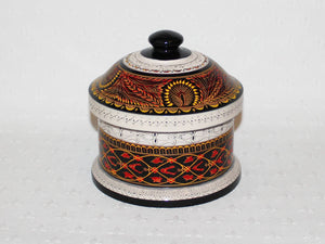 Hand-etched decorative lacquered wooden pot Serendip Large - £29
