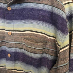 Men's Vintage Striped Shirt - Medium Planetary People