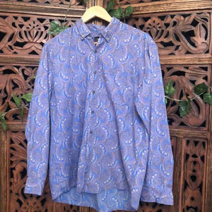 Men's Paisley Vintage Long Sleeved Shirt Planetary People