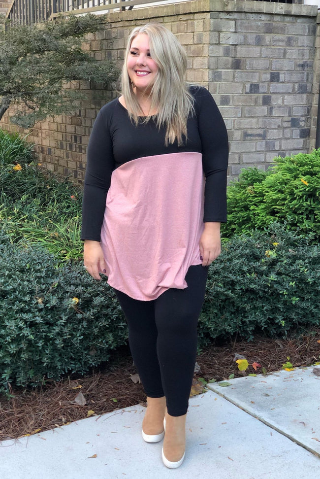 That's Darling Tunic Dress in Mauve