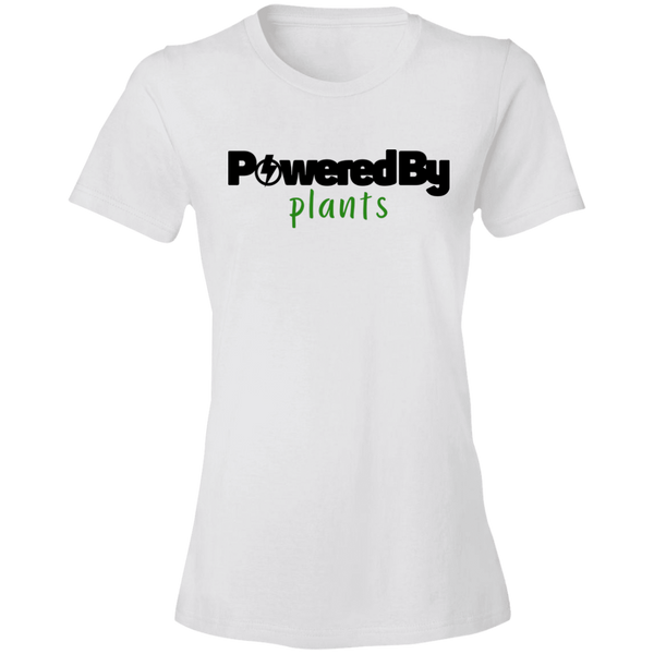 Powered by Plants Women's Tee (white)