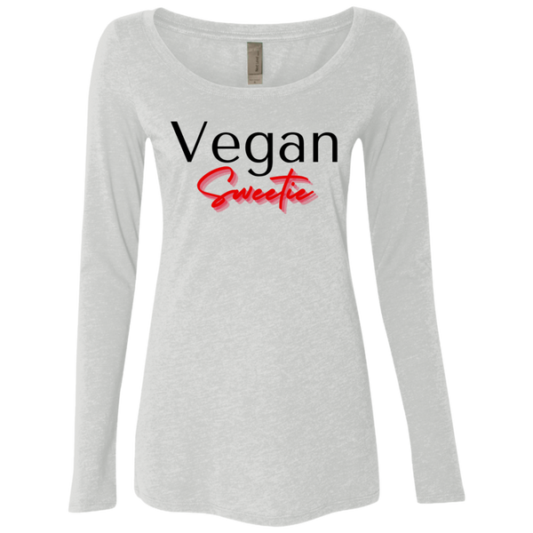 Vegan Sweetie Ladies Long Sleeve Tee