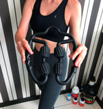Cellulite massage before and after.Anti-cellulite massage roller.Handheld massage tool. Cellulite massager roller.