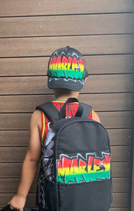 Rasta Kids Backpack and Cap Combo (Combo6)