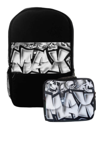 Skull Style Kids Backpack and Lunchbox Combo (Combo11)