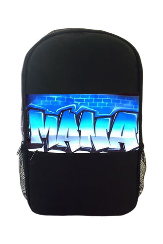 Graff Brickwall Style Kids Backpack