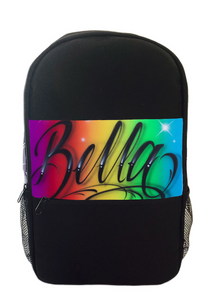 Rainbow Script Style Kids Backpack and Cap Combo (Combo2)