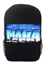 Load image into Gallery viewer, Graff Brick Wall Cut Style Kids Backpack and Lunchbox Combo (Combo1)