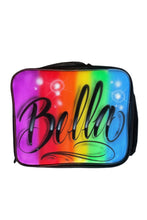Load image into Gallery viewer, Rainbow Script Style - Custom Lunchbox (LB2)