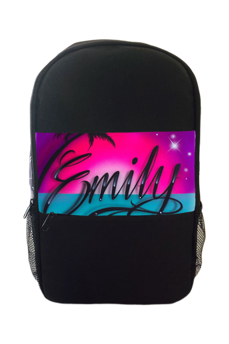 Paradise Script Style Kids Backpack (3B)