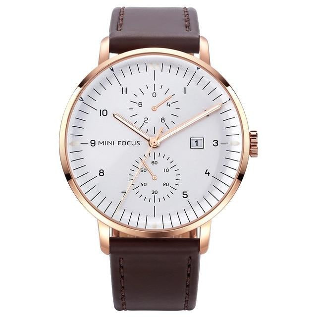 Top Leather Strap Stylish Watches Luxury Quartz Waterproof For Men And Women