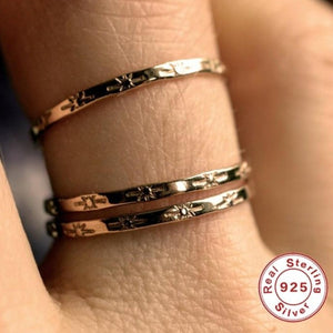 New Stylish 925 sterling silver chic Rings for Women Simple Vintage Finger Rings Jewelry Gift for friends