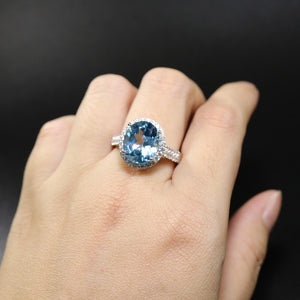 Gorgeous Sky blue topaz natural gemstone ring with 925 sterling silver classic design for women Dream gifts