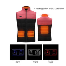 Load image into Gallery viewer, Double Controller 4 Heating Zones Vest With Battery