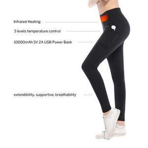 Black Heated Yoga Pants - Burn Extra Calories