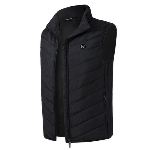 Black 2 Heating Zones Vest