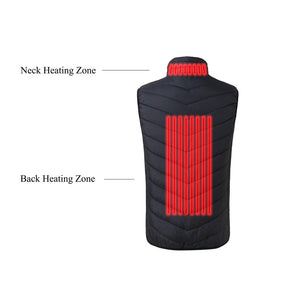 Black 2 Heating Zones Vest With Battery