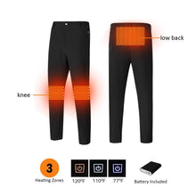 Load image into Gallery viewer, Black 3 Heating Zones Man Pants with battery