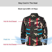 Load image into Gallery viewer, Air Cooling Jacket for Summer Outdoors Air-Conditioned Clothes With Battery