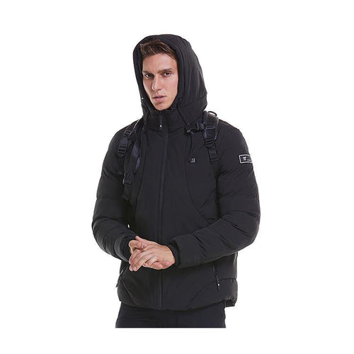 Black 2 Heating Zones Jacket With Battery - EDGE-ACT OUTDOOR