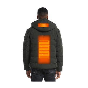 Black 2 Heating Zones Jacket With Battery