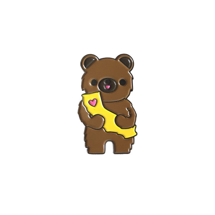 California Bear Enamel Pin by Bored Inc. from Leanna Lin's Wonderland