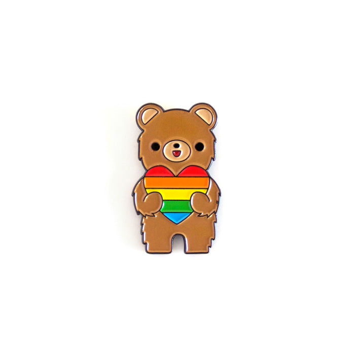 California Bear Love Is Love Enamel Pin