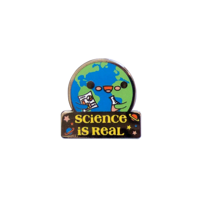 Science Is Real Enamel Pin by Bored Inc. from Leanna Lin's Wonderland