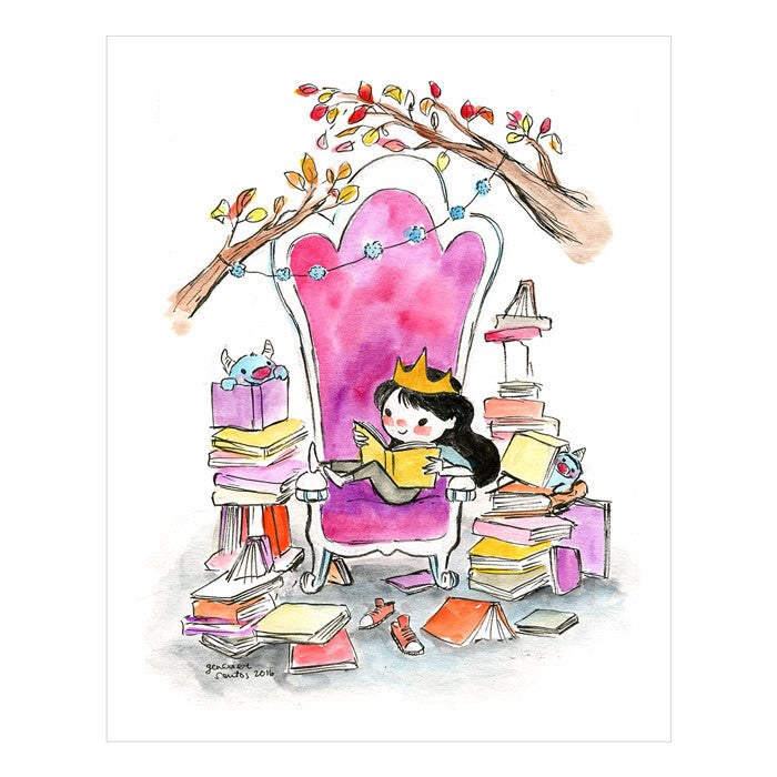 Genevieve Santos: Literary Throne Print by Genevieve Santos from Leanna Lin's Wonderland