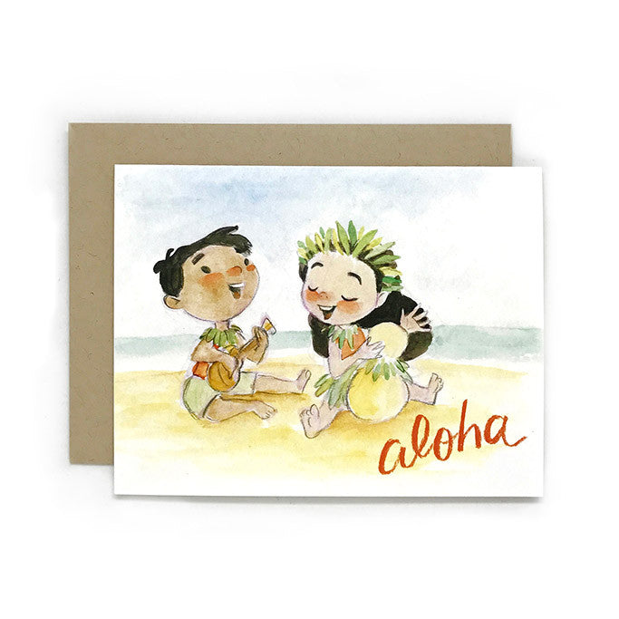 Aloha Music Card by Genevieve Santos from Leanna Lin's Wonderland