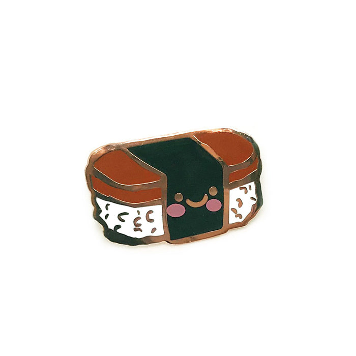 Spam Musubi Enamel Pin by Genevieve Santos from Leanna Lin's Wonderland