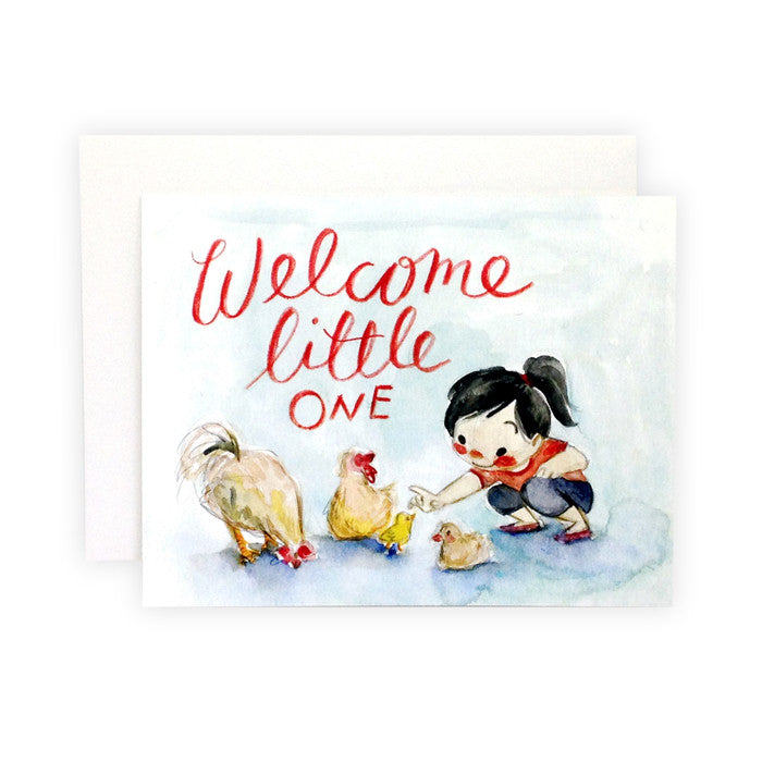 Welcome Little One Card by Genevieve Santos from Leanna Lin's Wonderland