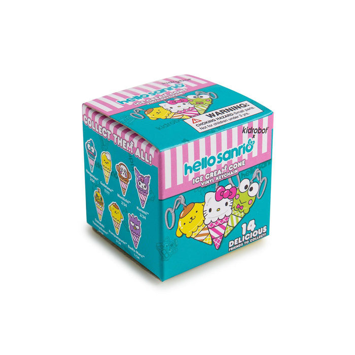 Kidrobot x Hello Sanrio Ice Cream Cone Keychain Blind Box