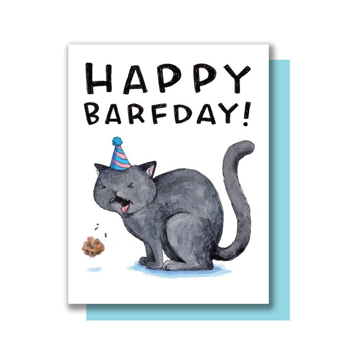 Happy Barfday Card by Paper Wilderness from Leanna Lin's Wonderland