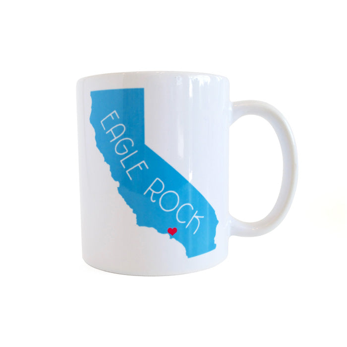 California Love Eagle Rock Mug - Sky Blue by Rock Scissor Paper from Leanna Lin's Wonderland