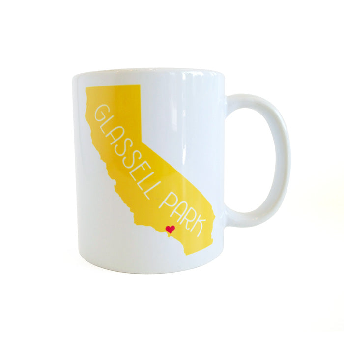California Love Glassell Park Mug - Yellow by Rock Scissor Paper from Leanna Lin's Wonderland