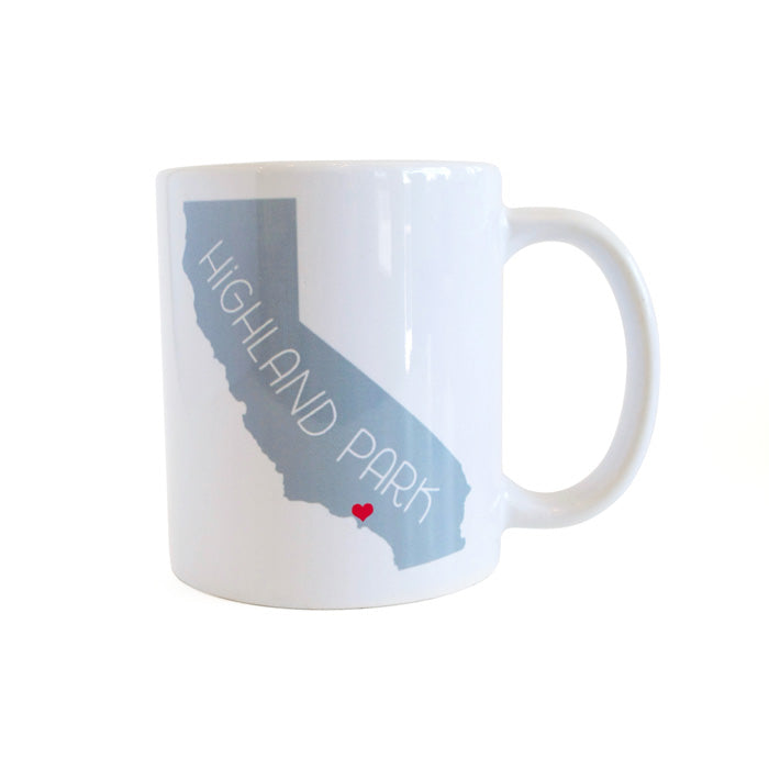 California Love Highland Park Mug - Gray by Rock Scissor Paper from Leanna Lin's Wonderland