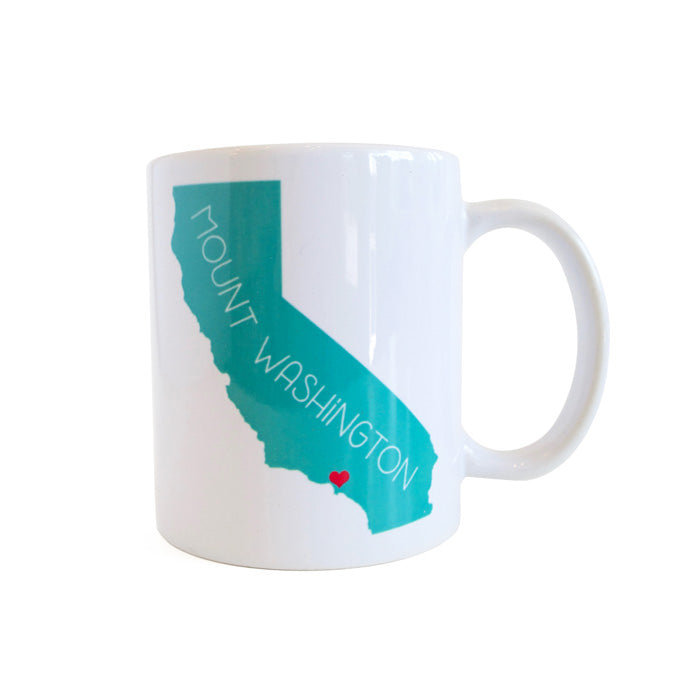 California Love Mount Washington Mug - Teal by Rock Scissor Paper from Leanna Lin's Wonderland