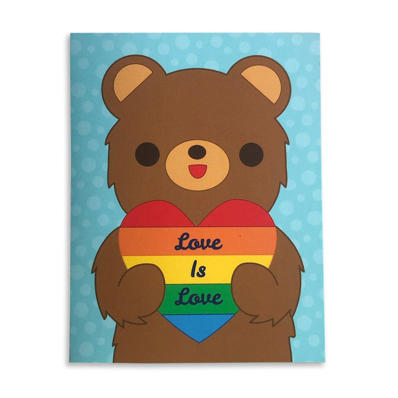 California Bear Love is Love Card by Bored Inc. from Leanna Lin's Wonderland
