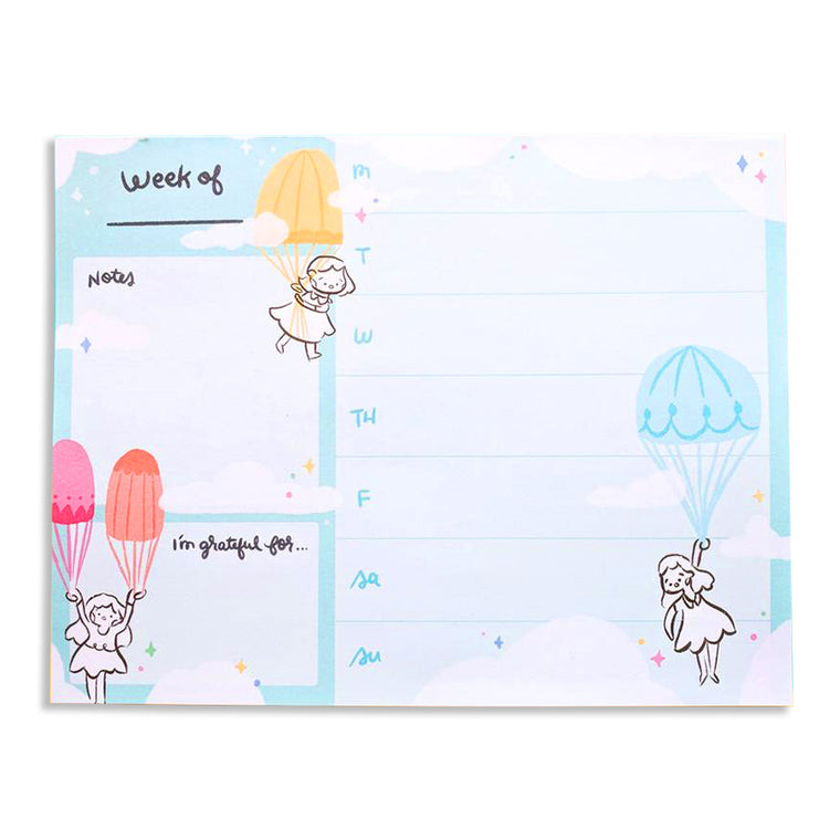 In The Clouds Weekly Planner Notepad