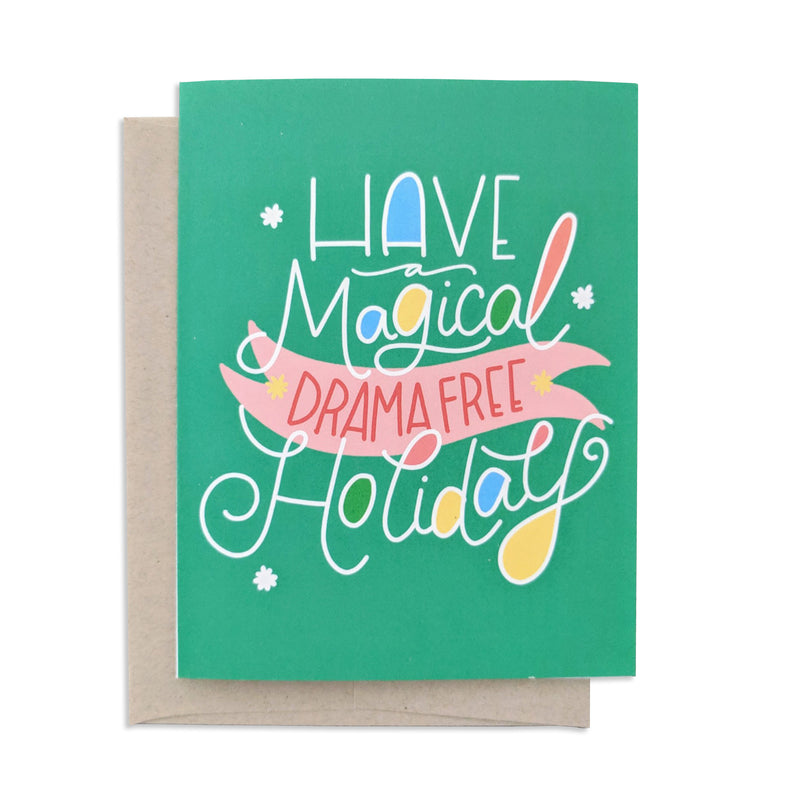 Drama Free Holiday Card