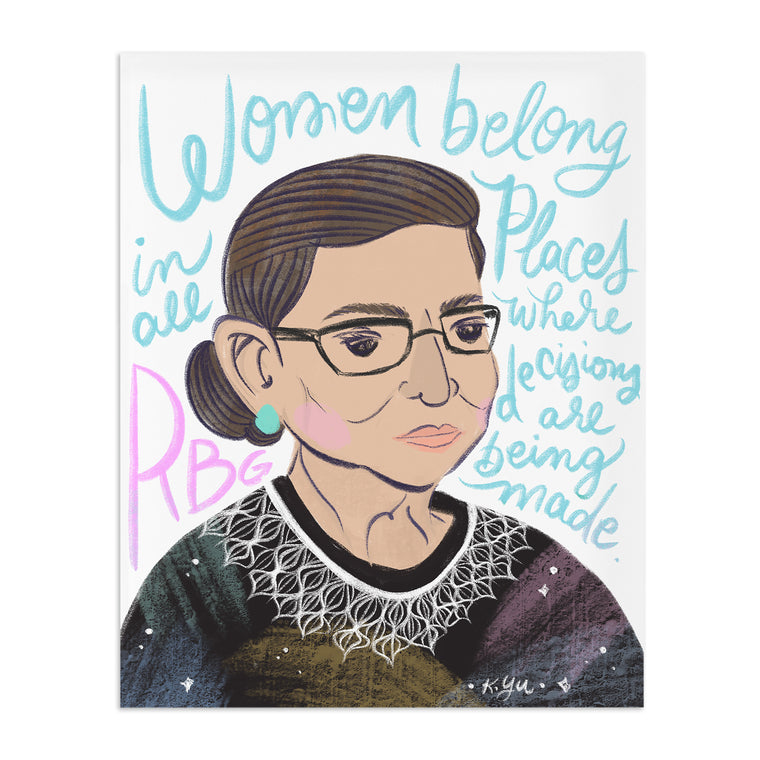 Cheery Human Studios: RBG Women Belong in All Places Print
