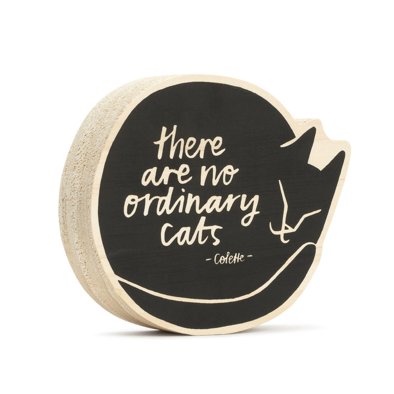 There are no Ordinary Cats Wooden Wall Art by Here & There from Leanna Lin's Wonderland