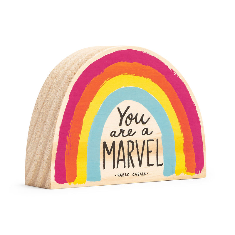 You Are A Marvel Wooden Wall Art by Here & There from Leanna Lin's Wonderland