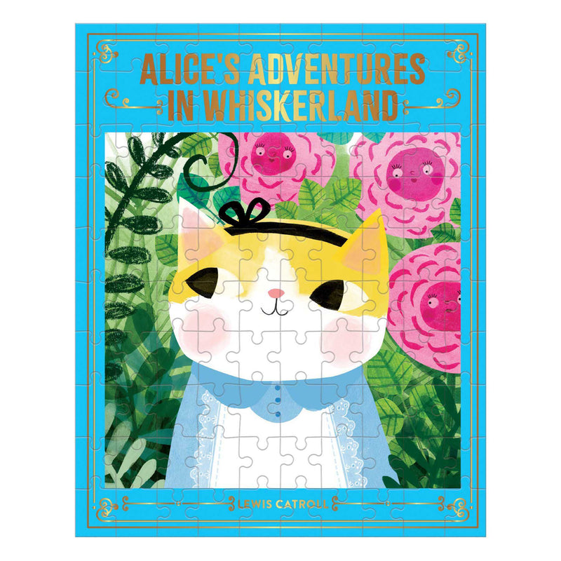 Bookish Cat: Alice Adventures Whiskerland 100 Piece Puzzle